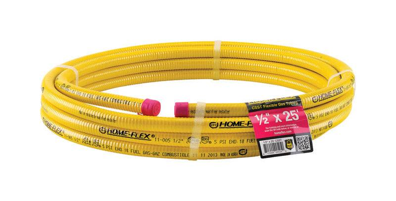 Home Flex psi Home Flex 1/2 in. x 25 ft. L Stainless Steel CSST Gas Tubing