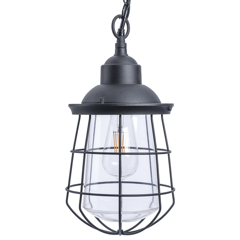 Paradise Lighting LED Glass/Metal Hanging Garden Light Black
