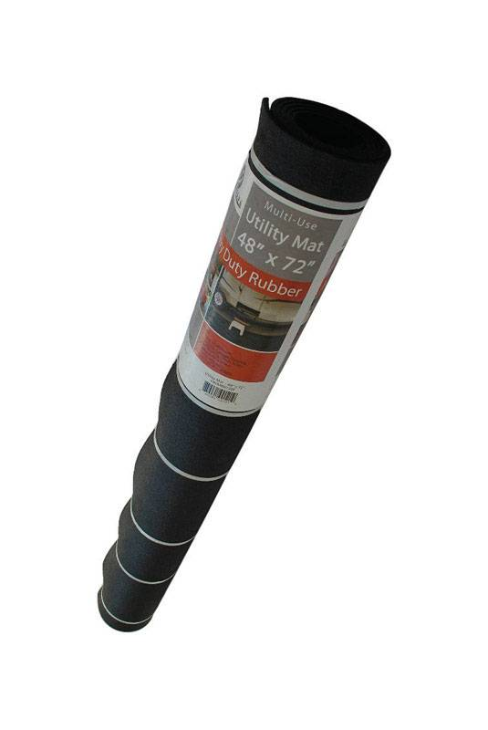 Flexgard Black Rubber Nonslip Crumb Rubber Floor Mat 72 in. L x 48 in. W