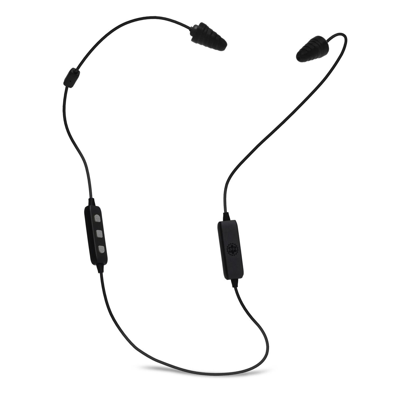 Plugfones Liberate 2.0 26 dB Nylon/Silicone/Soft Foam Bluetooth Ear Plugs/Ear Phones With Mic 34