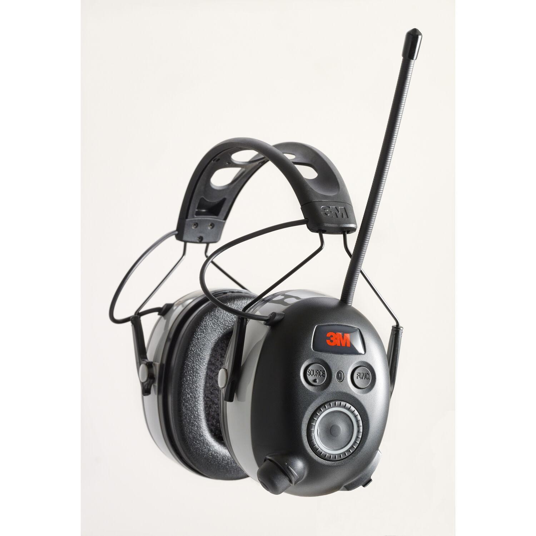 3M WorkTunes 24 dB Soft Foam Bluetooth Ear Plugs/Ear Phones With Mic Black 1 pair