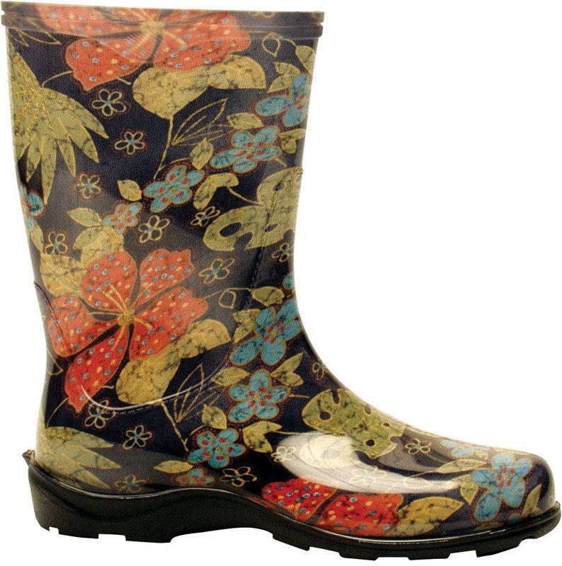 Sloggers Women's Garden/Rain Boots 6 US Midsummer Black