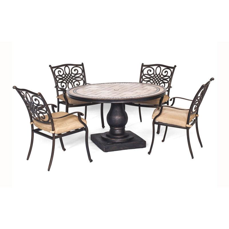 Hanover 5 pc. Bronze Aluminum Dining Patio Set