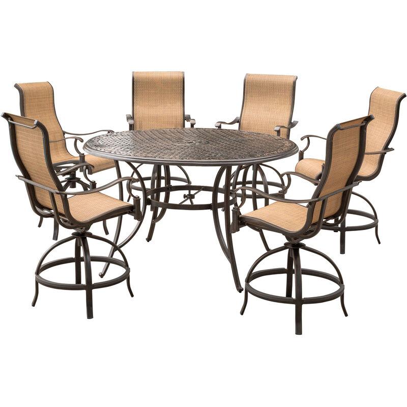 Hanover 7 pc. Bronze Aluminum High Dining Set