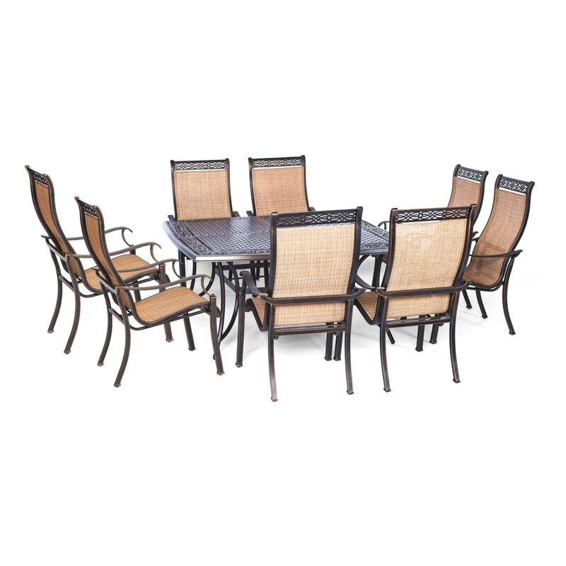 Hanover 9 pc. Brown Aluminum Dining Patio Set