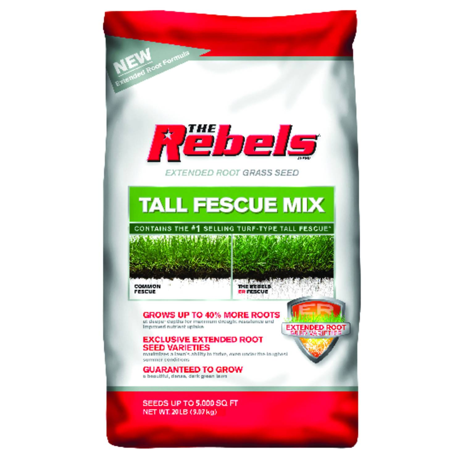 Pennington Seed The Rebels Tall Fescue Sun/Shade Grass Seed 20 lb.