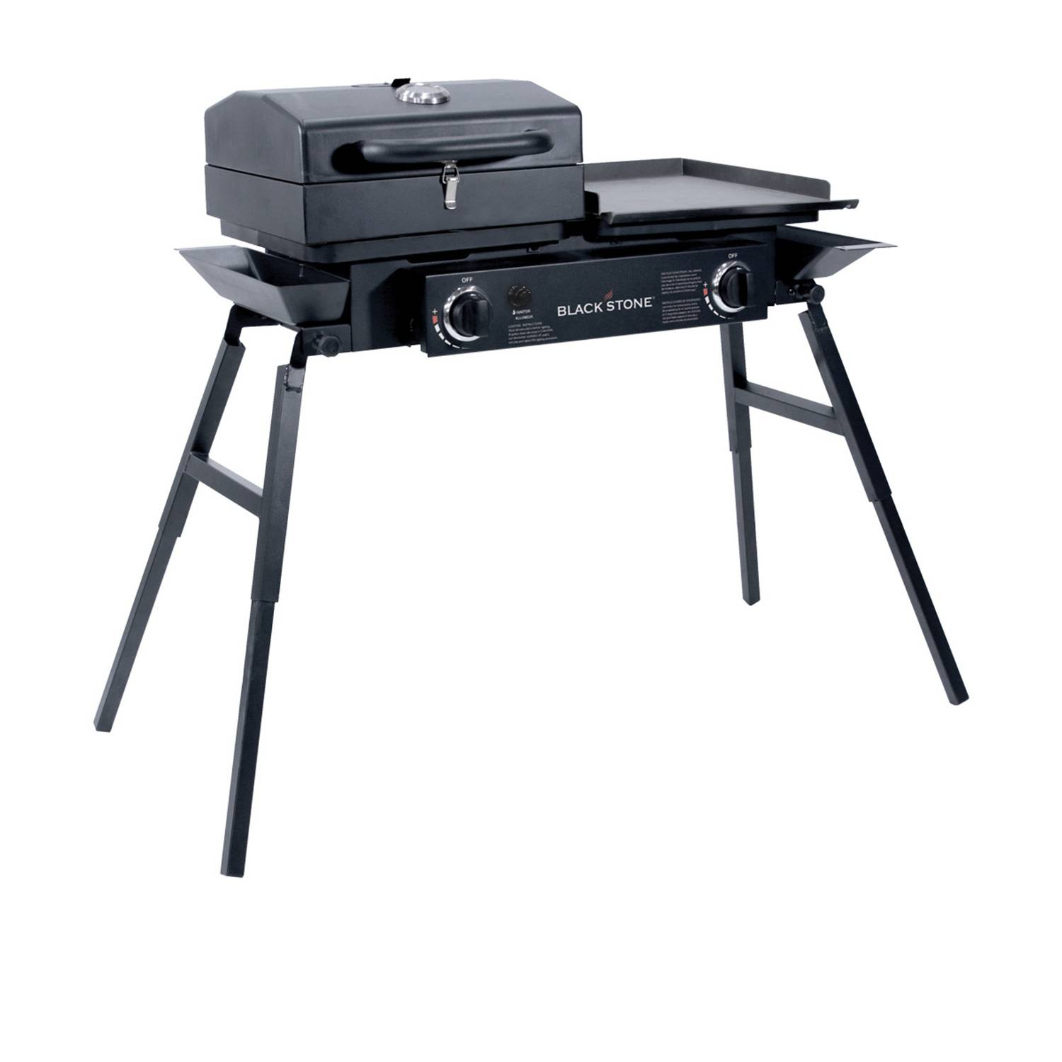 Blackstone Tailgater Combo 2 burners Liquid Propane Outdoor Griddle Black