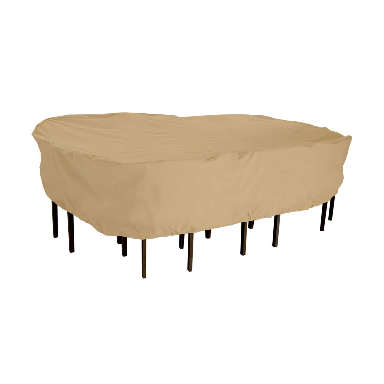 Classic Accessories 23 in. H x 82 in. W x 106 in. L Brown Polyester Dining Set Cover