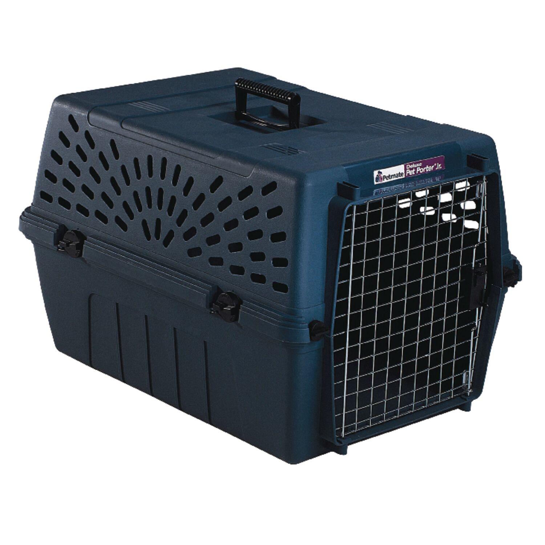 Aspen Pet Plastic Pet Kennel Multicolored 14.5 in. H x 16.7 in. W x 24.1 in. D
