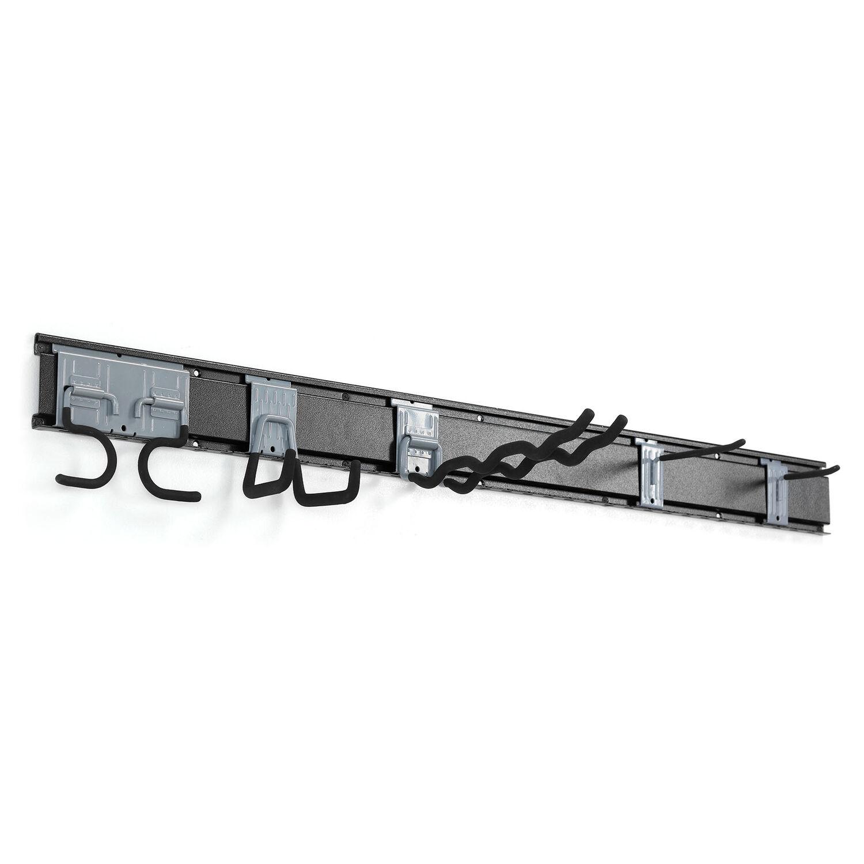 Crawford Duramount 49 in. L Black/Silver Steel Rail System Tool Organizer 450 lb. capacity 1 p