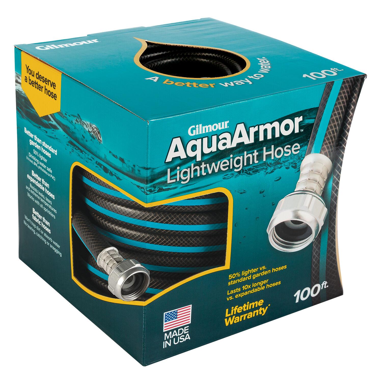 Gilmour AquaArmor 1/2 in. Dia. x 100 ft. L Black Plastic Garden Hose