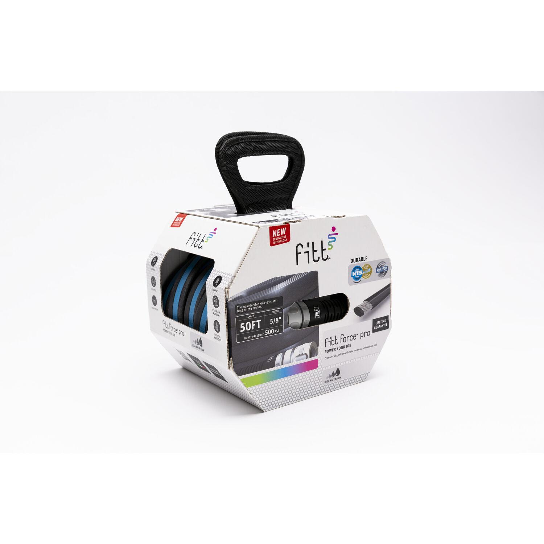 Fitt Force Pro 5/8 in. Dia. x 50 ft. L Premium Grade Gray Hybrid Polymer Garden Hose