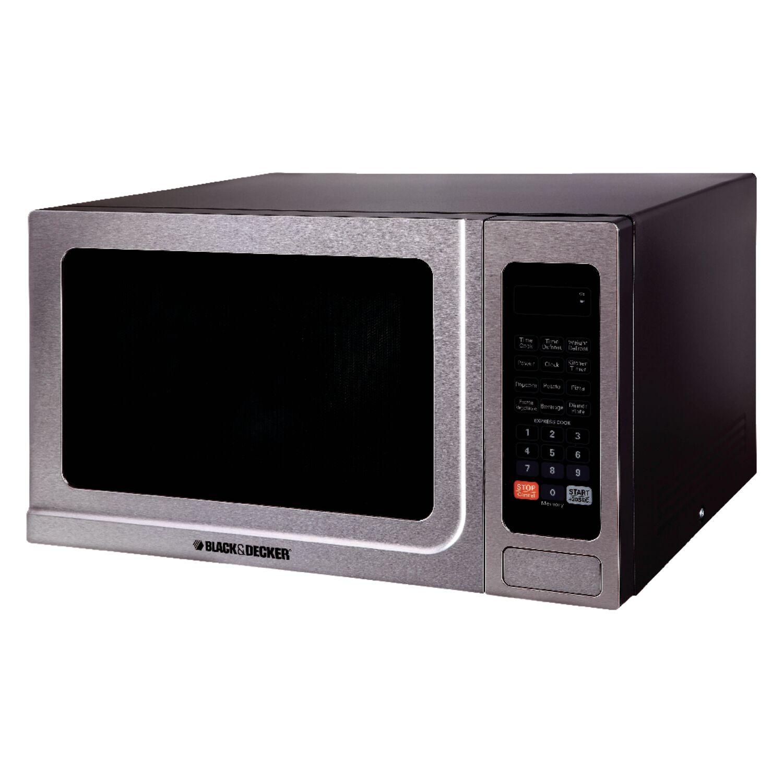 Black and Decker 1.4 cu. ft. Silver Microwave 1000 watt
