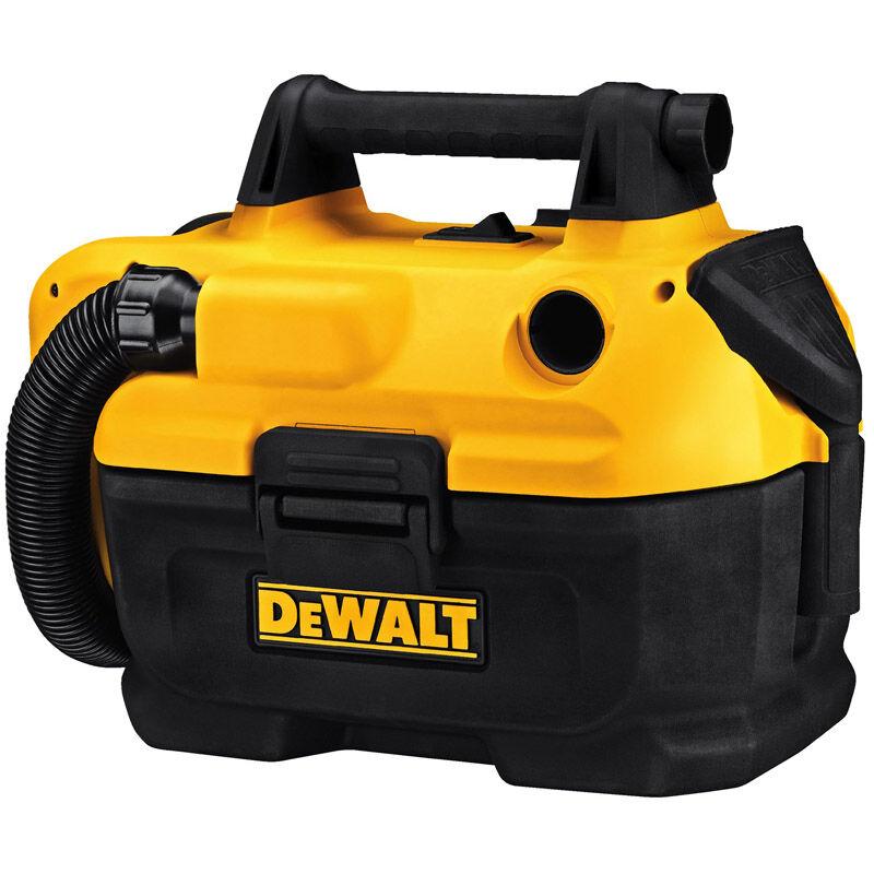 DeWalt Max 2 gal. Cordless Wet/Dry Vacuum 20 volt Black/Yellow 8 lb.