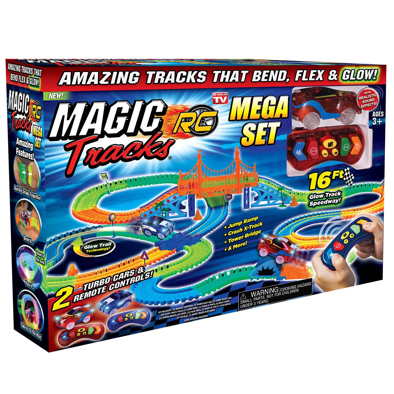Magic Tracks As Seen On TV Mega Set Glow In The Dark Car Race Tracks Plastic Multi-Colored 377
