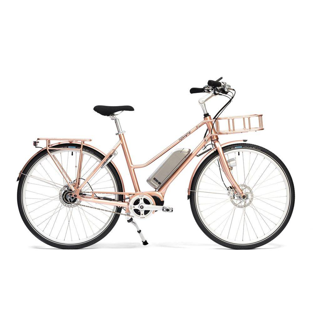 Bluejay Bicycles Premiere Edition Electric Bike in Rose Gold, Small/Medium