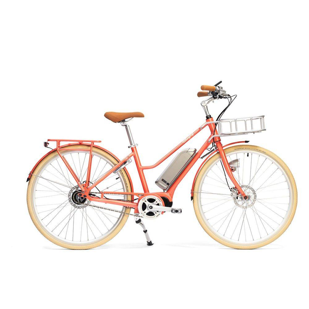 Bluejay Bicycles Premiere Edition Electric Bike in Coral, Small/Medium