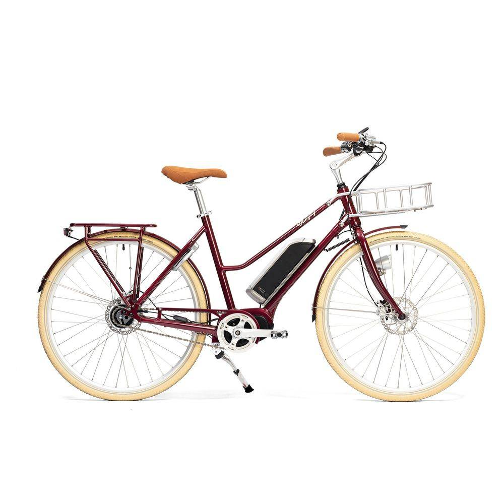 Bluejay Bicycles Premiere Edition Electric Bike in Merlot, Small/Medium