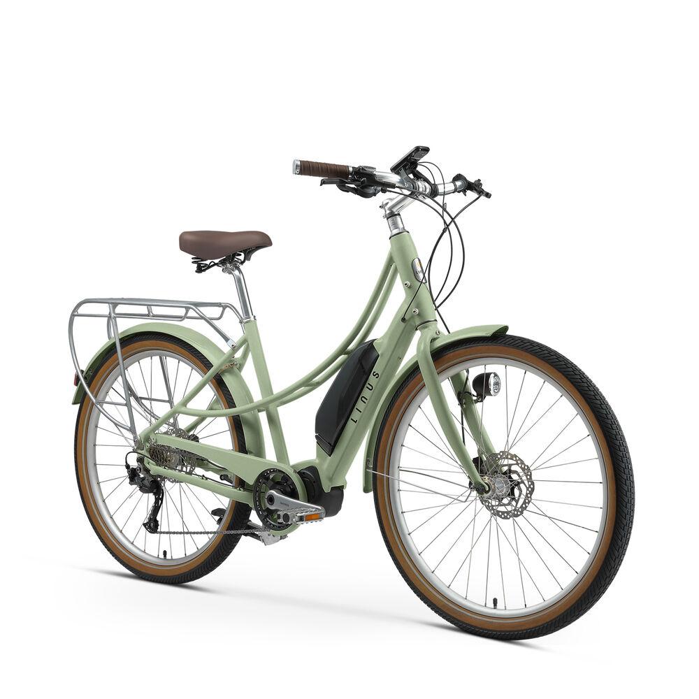 Linus Ember Electric Bike in Sage, Medium