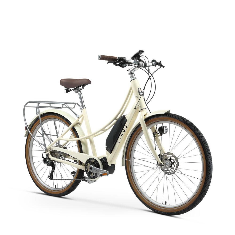 Linus Ember Electric Bike in Cream, Medium