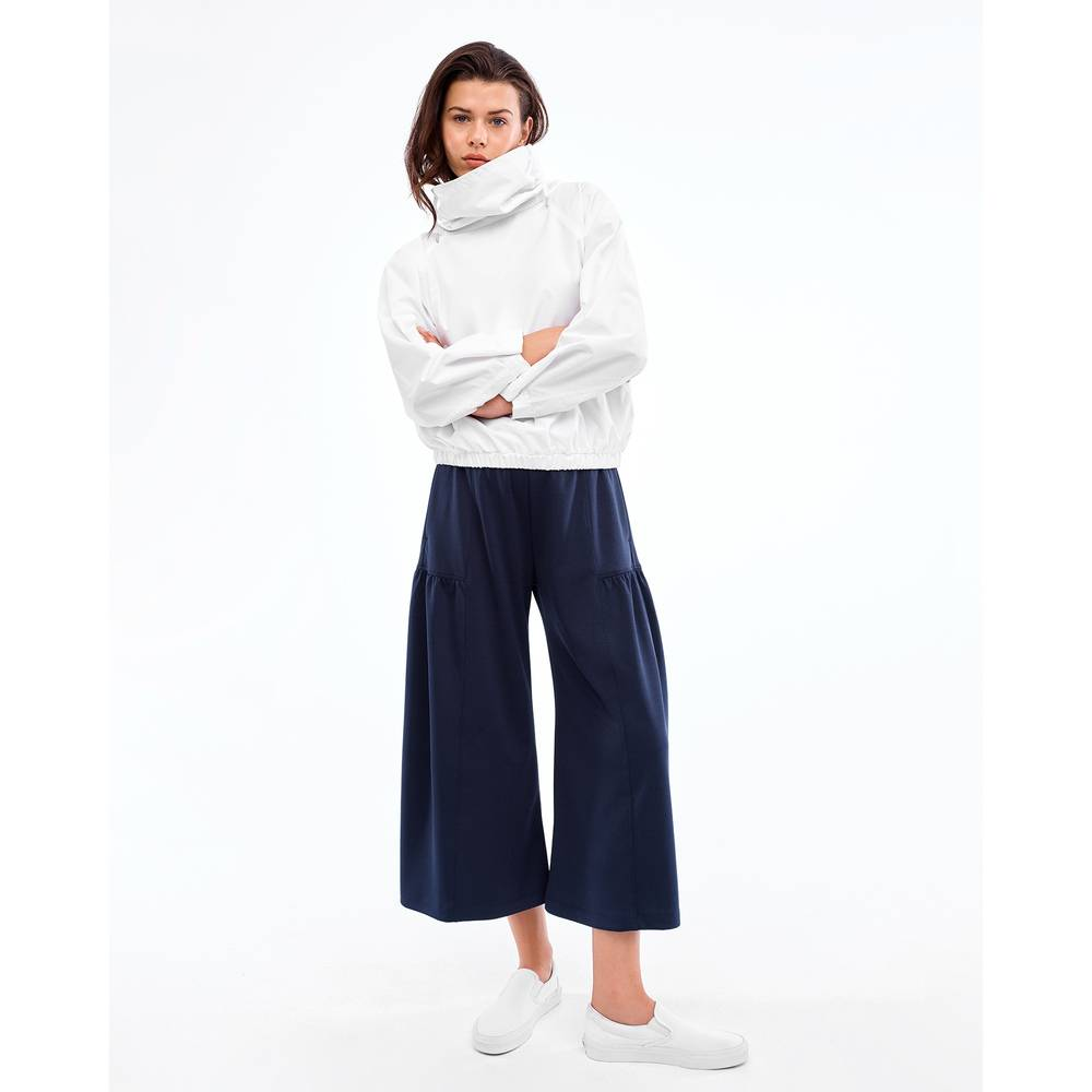 G. Sport Shirred Culottes in Midnight, X-Small