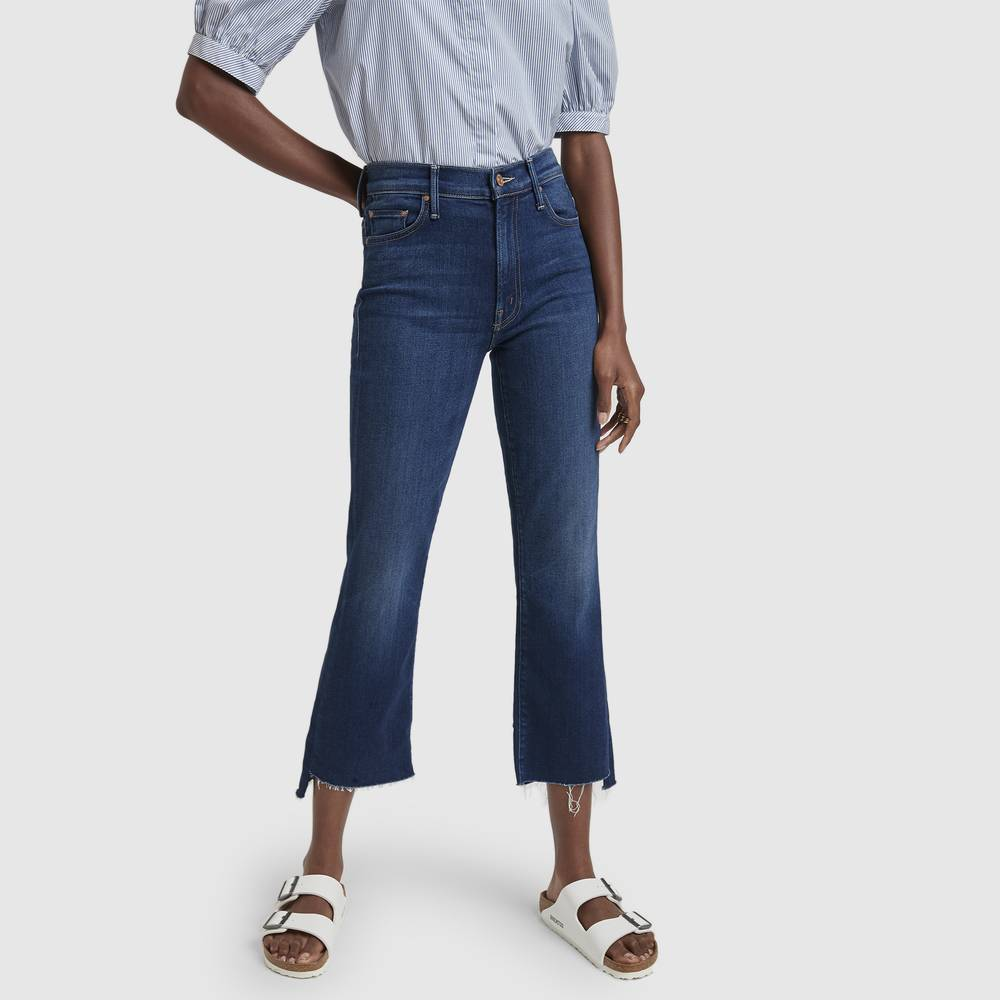 MOTHER The Insider Crop Step Fray in Home Movies, Size 28