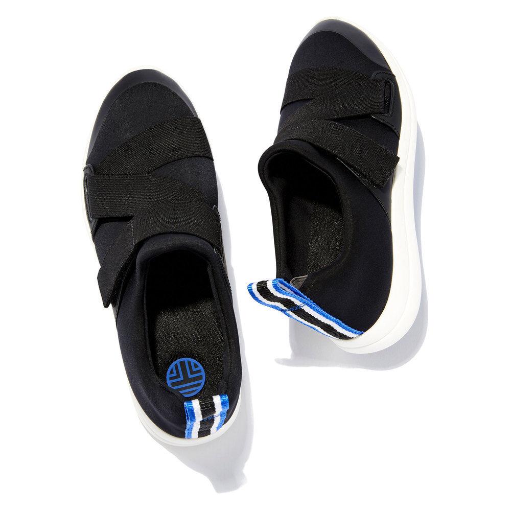 Tory Sport Neoprene Sneaker in Black, Size 7