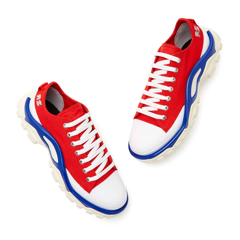 Adidas By Raf Simons Rs Detroit Runner Shoes Sneakers in Red, Size M 5.5 / W 6.5