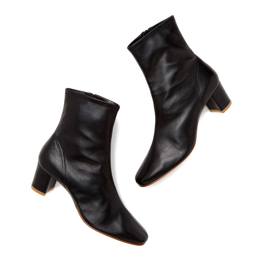 BY FAR Shoes Sofia Black Leather Boots, Size IT 38