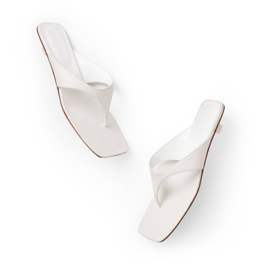 BY FAR Shoes Jack Sandals in White, Size IT 40
