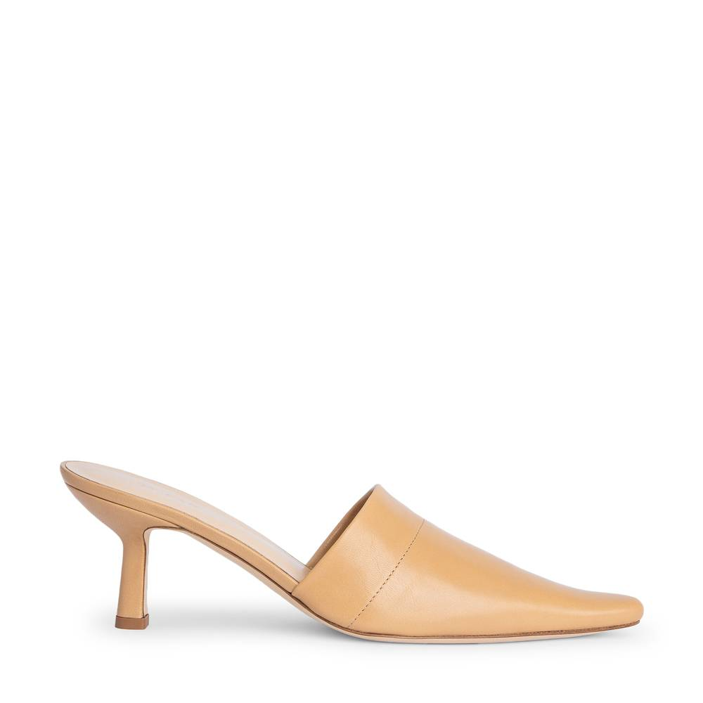 BY FAR Shoes Cynthia Heels in Nude Leather, Size IT 39