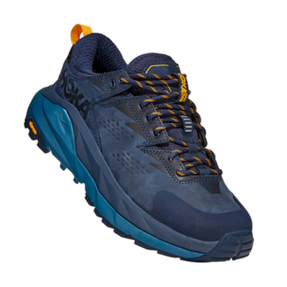 Hoka One One Kaha Low Gore-Tex Hiking Shoes Sneakers in Black Iris/Moroccan Blue, Size 7