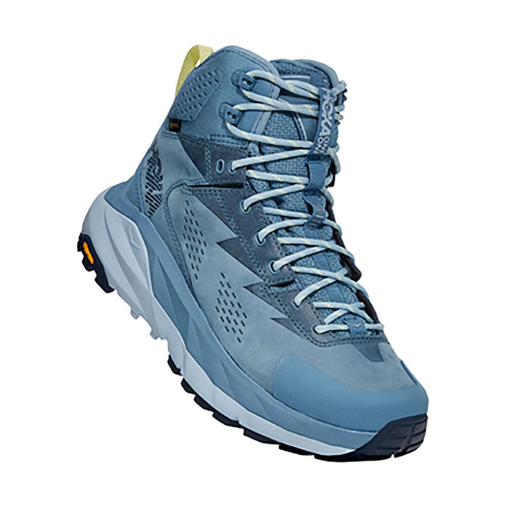 Hoka One One Kaha High Gore-Tex Hiking Shoes Sneakers in Provincial Blue/Blue Fog, Size 8