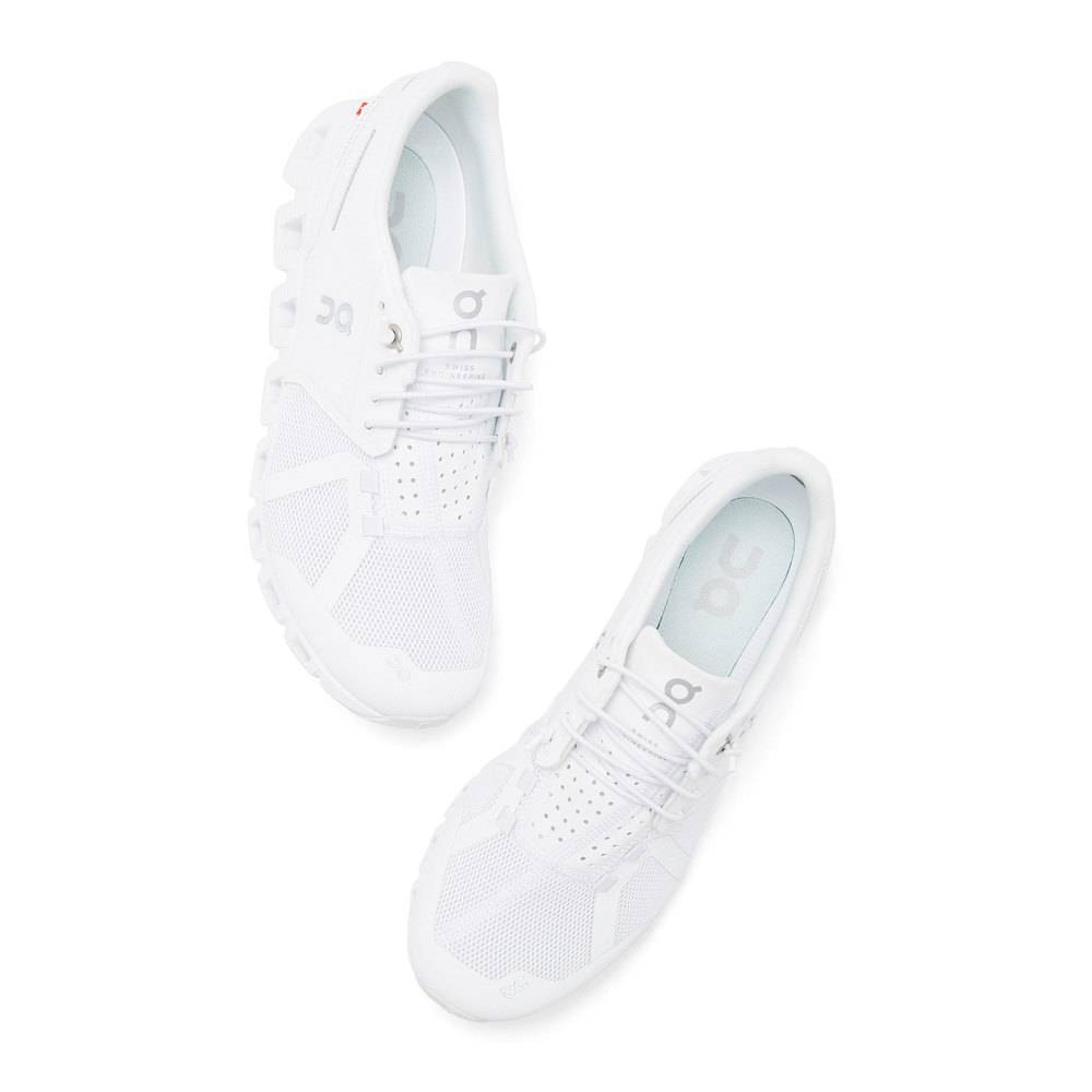 On The Cloud Sneaker in All White, Size 7