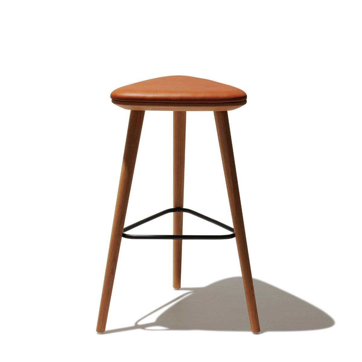 Industry West Alchemy Bar Stool Black Leather