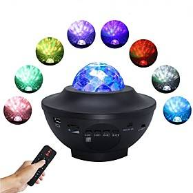 LED Starry Galaxy Projector Night Light Tiktok Light Projection 6W with Bluetooth Music Speaker 21 Lighting Modes Adjustable with Remote Control