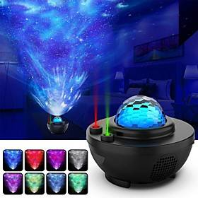 Night Light Projector Star Projector Ocean Wave Projector-Galaxy Projector Two Laser Lights with Bluetooth Music SpeakerPrefect for Bedroom/Game Rooms/Party/Ni