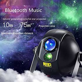 Remote Control with Bluetooth Music Speaker Laser Light Projector Rotating LED Projector Multi Color Wedding Party Gift Projector Light