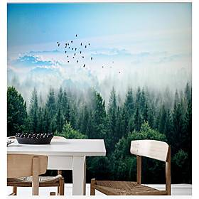 Forest Landscape Wallpaper Self-Adhesive Removable Peel and Stick Wallpaper Decorative Wall Covering for Wall Surface Cover Easy to Apply