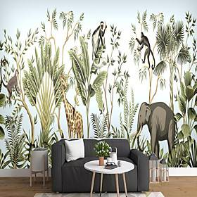 Green Leaf Wallpaper Self-Adhesive Removable Peel and Stick Wallpaper Decorative Wall Covering for Wall Surface Cover Easy to Apply