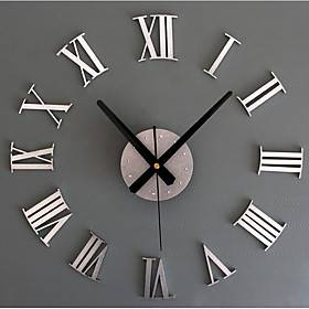 Modern Contemporary / Retro Acrylic / Glass / Metal Round Novelty / Holiday / Inspirational Indoor / Outdoor AA Decoration Wall Clock Analog Emboss No