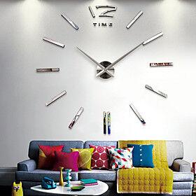 Wall Clock Quartz Watch Large Decorative Clocks Europe Acrylic Stickers Living Room
