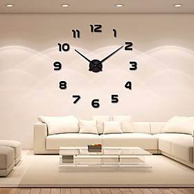 Modern / Contemporary Acryic / Polyester Stainless steel Round Indoor / Outdoor,AA Batteries Powered AA Wall Clock
