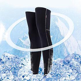 1 Pair Nuckily Leg Warmers / Knee Warmers Solid Color Reflective Lightweight Sunscreen Bike Black Polyester Elastane for Men's Women's Adults' Road Bike Mounta