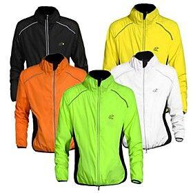 WEST BIKING Men's Cycling Jacket Bike Jacket Windbreaker Ultraviolet Resistant Jacket Windproof Breathable Reflective Strips Sports Elastane Orange / Yellow /