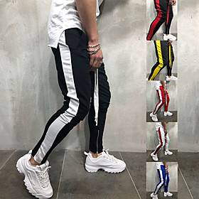 JACK CORDEE Men's Sweatpants Joggers Jogger Pants Track Pants Sports  Outdoor Athleisure Wear Bottoms Side-Stripe Drawstring Running Active Training Jogging Tr