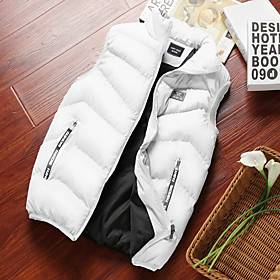Sleeveless Cycling Vest Winter Rabbit Fur Red / Yellow White Black Solid Color Bike Fleece Lining Warm Sports Solid Color Clothing Apparel