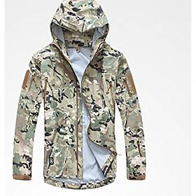 Noga Commander Softshell Outdoor Military Officer Jacket Waterproof Windproof Sports Army Clothing (cp camo, M)