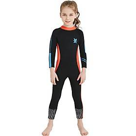 Girls' Full Wetsuit 2.5mm Nylon Spandex SCR Neoprene Diving Suit Sun Shirt UV Resistant Anatomic Design Stretchy Long Sleeve Back Zip Patchwork Autumn / Fall S