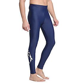 SBART Men's Dive Skin Leggings Bottoms SPF50 UV Sun Protection Breathable Diving / Quick Dry